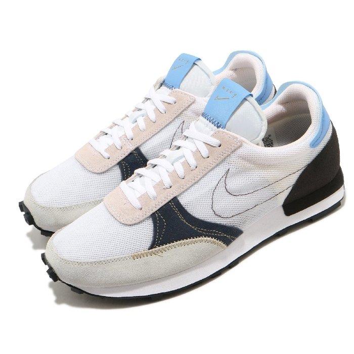 =CodE= NIKE DAYBREAK-TYPE 復古休閒鞋(白黑藍) CJ1156-101 阿甘鞋 N.354 男女