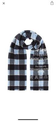 Acne studios checked wool scarf 圍巾 藍色 格子 全新現貨