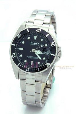 OMAX-水鬼款  時尚男錶-黑/OM4057M