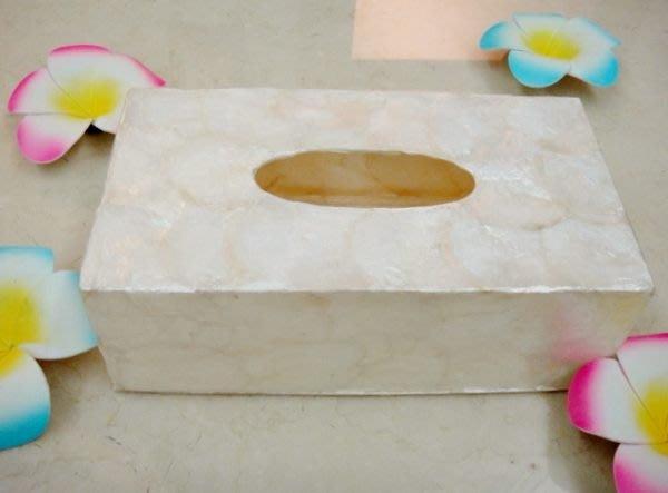 Y【永晴峇里島】巴里島全貝殼面紙盒,增添異國風味,居家,民宿,飯店都好用-面紙盒14@