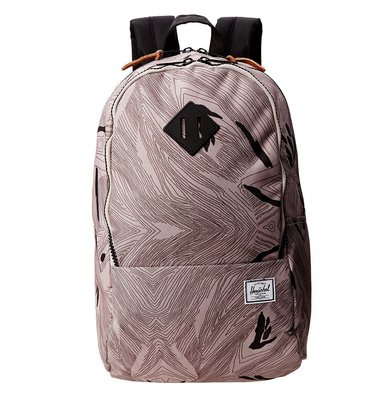 Hsin 59折 現貨 Herschel Nelson 樹紋 Geo 黑色 塑膠拉鏈 帆布 多夾層 筆電層 後背包