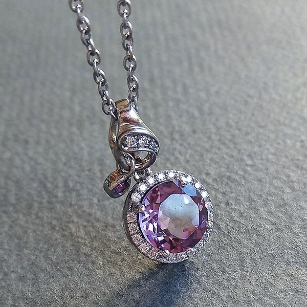 ☆采鑫天然寶石☆** 寵愛** 珠寶級天然紫水晶墜~雅緻設計款~極美