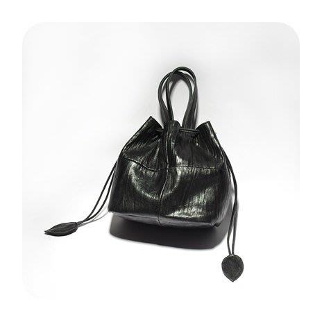 手提包 真皮 側背包-黑色羊皮多用途水桶包女包包73vd35[獨家進口][巴黎精品]