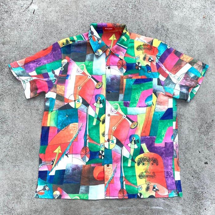 【inSAne】韓國購入 / 幾何圖形 / 滿版 / 花襯衫 / 單一尺寸