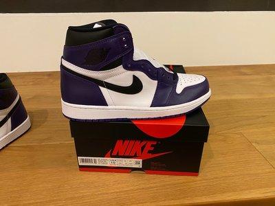 『清航』2020 Nike Air Jordan 1 HIGH OG Court Purple 白紫葡萄 全新台灣公司貨