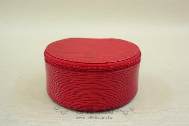 【遠麗】台北大安店~A4271 LV epi 紅色圓弧化妝包/珠寶盒 (限量絕版) 真品 正品   現貨