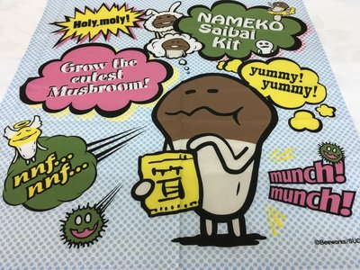 * QP小舖 * 日本製《菇菇栽培》30×30 純棉手帕 幼童手帕