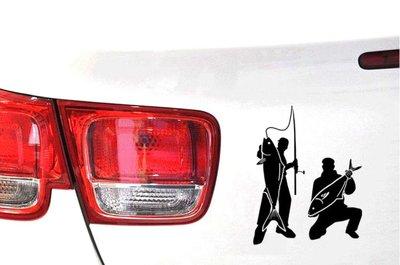沛恩精品 釣大尾魚反光貼紙 鮪魚反光貼紙 釣魚貼紙 釣魚 戶外釣魚貼紙 釣魚反光車貼 釣魚車貼 釣魚嗜好貼 玻璃貼