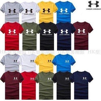 任選五件750 UA 純棉短袖情侶款 短袖T恤  字母T 男女生T恤 客制 團體服 大碼 潮T
