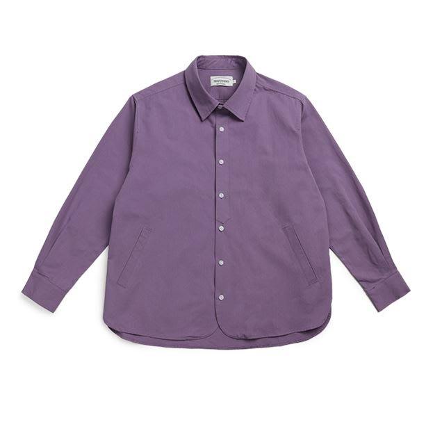 【NoComment】韓系時尚休閒 質感簡約 很時尚的淡紫色斜紋素面襯衫 Gucci ZARA