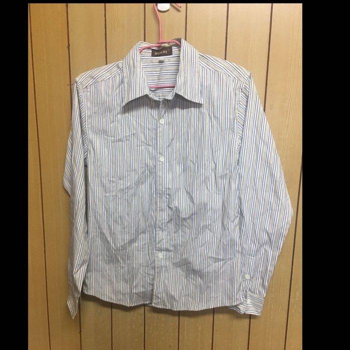 五一元起標 無底價 二手 Homme 條紋 長䄂襯衫 2號 003