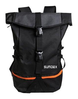 加賀二館 SUMDEX 巨無霸 運動包 登山包 15.6吋 筆電背包 球包 後背包 黑色 TX1720
