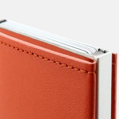 法國原裝進口 OGON Cascade Wallet RFID Orange Leather 橘色真皮