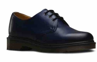 美國代購)英國馬丁大夫Dr Martens 1461 深藍色擦色經典三孔平底牛皮牛津紳士鞋 UK3-13 (女 男 情侶