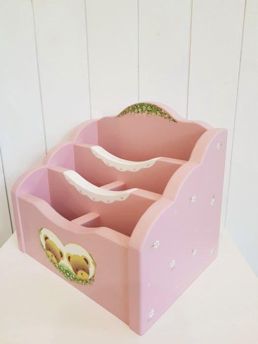 收納盒 松木 實木 置物盒**樂在幸福**木作坊 ~A24~純手工繪製~遙控器/信件/鉛筆文具收納盒