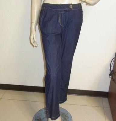設計師專櫃AMOR 仿牛仔刷藍後口袋晶鑽低腰長褲 ~AJ衣飾1w-2-17
