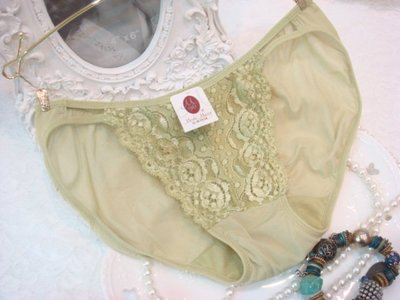 拜金的店 曼黛瑪璉內褲(  L 號)  F6285-1  GE  綠色