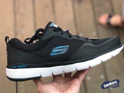 「plus+」Skechers FLEX ADVANTAGE 3.0 休閒鞋 慢跑 黑 藍 52954BLK