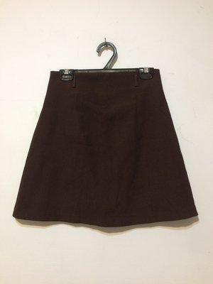 ❤夏莎shasa❤深咖啡色基本款短裙/靴子百搭/1元起標