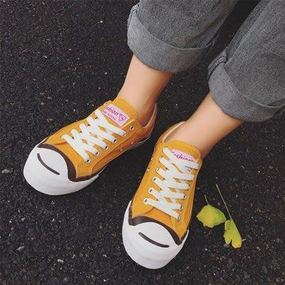 帆布 鞋 繫帶情侶 休閒 鞋-時尚趣味開口笑流行男女鞋子3色73no9[獨家進口][米蘭精品]
