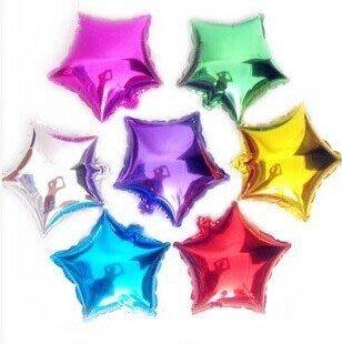 發光派對屋(西門中華店)@生日婚禮佈置~五角星 星星18吋鋁箔氣球