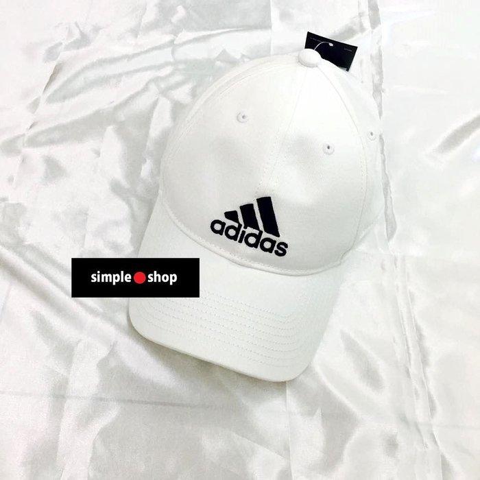 【Simple Shop】現貨 Adidas PERF CAP LOGO 刺繡 ADIDAS老帽 鴨舌帽 白色 可調式