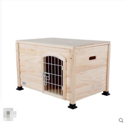 M-petsfit實木貓窩狗窩小型犬寵物窩雙層床泰迪狗窩室內狗屋貓房子