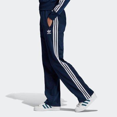 【AIRWINGS】ADIDAS Original 三葉草 ED7509 女性藍色FIREBIRD三線休閒長褲