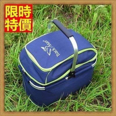 野餐包 2人餐具組 手提包-自遊團體出遊皆宜神秘深藍露營郊遊野餐包 68ag33[獨家進口][米蘭精品]