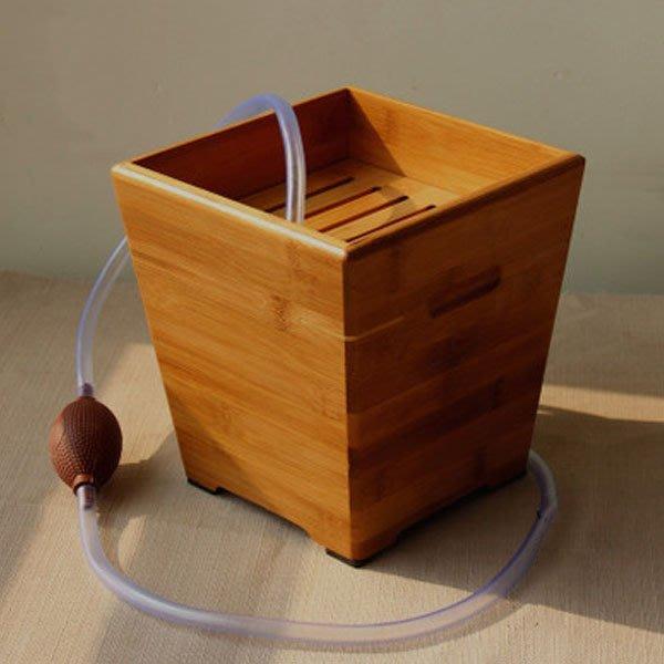 5Cgo【茗道】含稅會員有優惠 22570815376 茶水桶茶渣桶竹茶盤茶道配件垃圾桶 茶道配件-小號