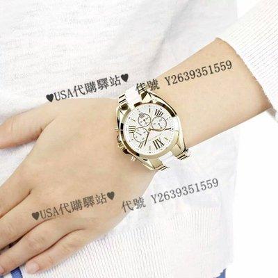 ♥USA代購驛站♥ 100%美國全新正品 MK品牌 MK5743 經典個性 琥珀 玳瑁 雙色 三眼計時 中性 手錶 腕錶
