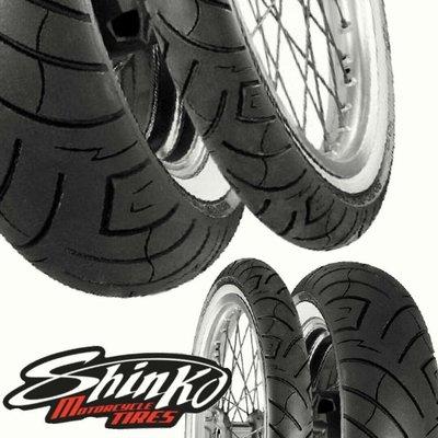 (輪胎王)凱旋T100  鋼絲框改日本SHINKO SR777WW (大白邊胎) 100/90-19+130/80-17