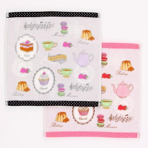 蛋糕、音符毛巾手帕