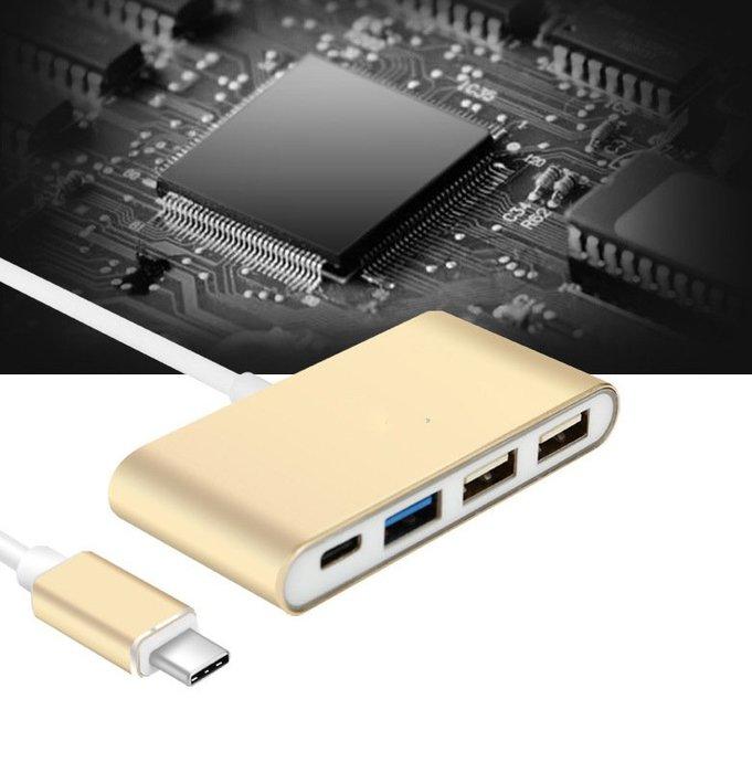 [巨蛋通] typeC USB HUB 集線器一轉4口 typeC轉USB3.0 macbook必備 隨插即用 手機可用