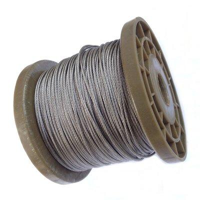 304不鏽鋼絲繩 鋼索 7*7股 7*19股 整卷 0.6~4mm