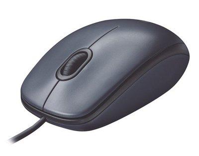 羅技 M90 USB有線光學滑鼠 黑灰【全新附發票】