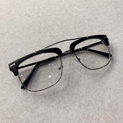 【inSAne】訂製款 / 半金屬框 / 多邊 / 眼鏡 / 單一尺寸 / 銀框