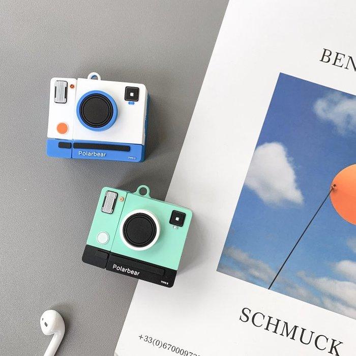小花精品店-復古相機ins創意airpods保護套立體個性2代無線藍牙硅膠殼耳機套