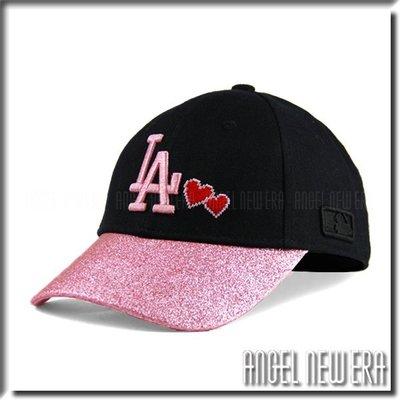 【ANGEL NEW ERA 】 MLB Old Fashioned Cap  道奇 LA 黑 粉紅 老帽 金蔥 愛心