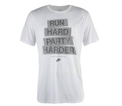 =CodE= NIKE RUN HARD PARTY HARDER BOX 浮水印短T(白黑) 659451-100 男
