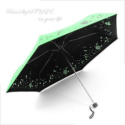 【RAINSKY傘】四季花卉雙絲印-輕量晴雨傘 (翡翠綠) / 雨傘抗UV傘防曬傘隔光傘防風傘手開傘折傘折疊傘 (免運)