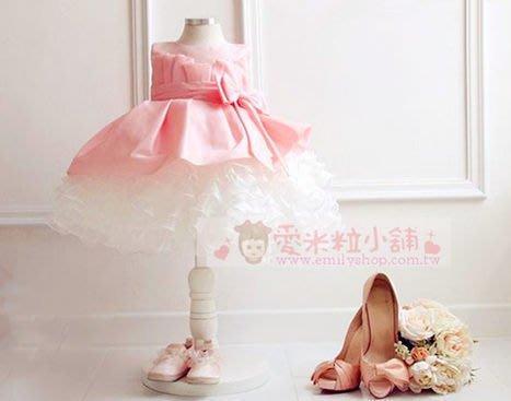 兒童禮服 粉色多層蛋糕裙 ☆愛米粒☆ A28