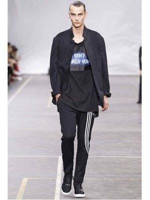 【ChicPop】Y-3 STRIPED TECHNO COTTON JOGGING PANTS 褲子 男