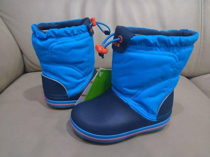 卡駱馳 深藍色 兒童 高筒 尼龍 防水 雨鞋 雨靴