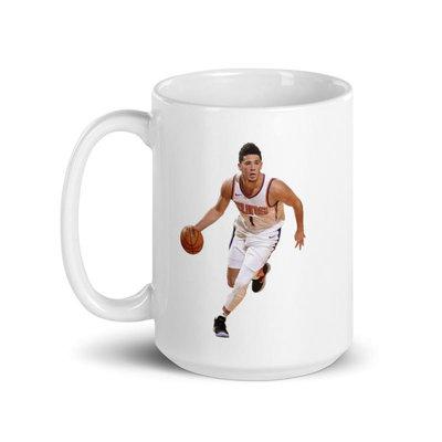 [NBA球星隊徽馬克杯] 鳳凰城太陽隊Devin Booker優質神射手 太陽明日之星 2021 NBA季後賽