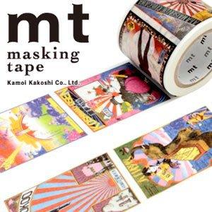 《散步生活雜貨-和紙膠帶》日本製 mt x 横尾忠則 posters 紙膠帶 37mm 單捲-MTYOKO03