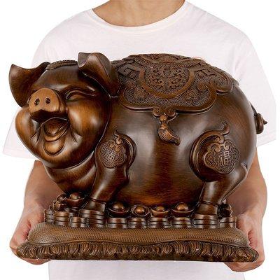 金豬擺件招財風水生肖發財豬創意可愛工藝品客廳家居擺設酒柜裝飾