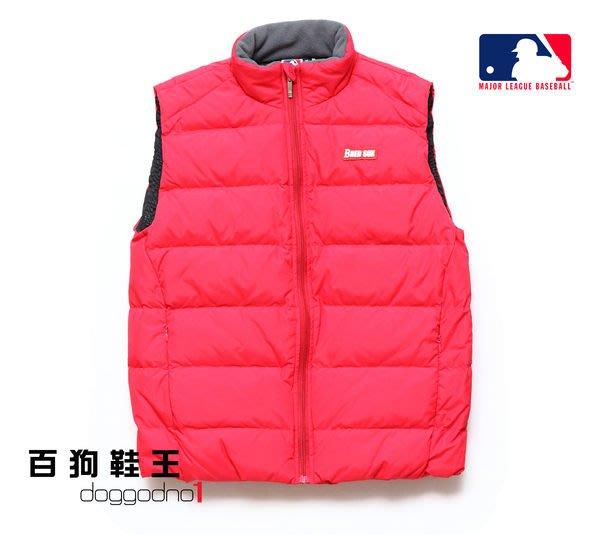 百狗衣舖 MLB 美國職棒大聯盟 BOSTON RED SOX 波士頓 紅襪 羽絨背心外套.紅 主場 輕 保暖 舒適