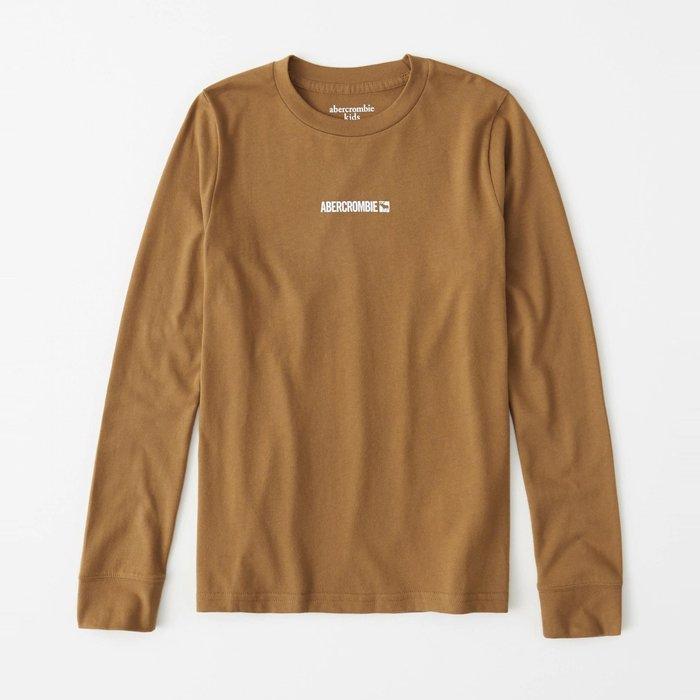 【abercrombie kids】【a&f】af男童款長袖T恤印小白字鹿駝 F07191118-40