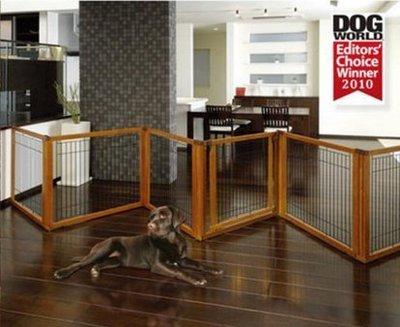 【興達生活】利其爾古銅色可調節狗狗木製圍欄門欄小中大型犬泰迪圍欄室內木質狗籠`17595
